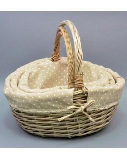 Набор 3 плетеные корзины Лоретта