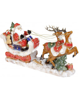 Декор новогодний Экипаж Санты 44.5х12х26см, керамика