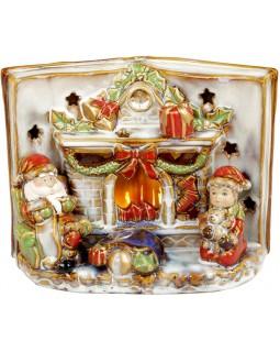 Декор керамический книга Merry Christmas с LED подсветкой 24х12.5х18см