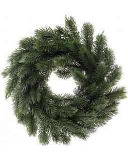 Декоративный венок Вечнозеленый диаметр 30см из искусственной хвои