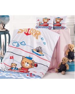 Комплект детского постельного белья Sailor в кроватку, хлопок