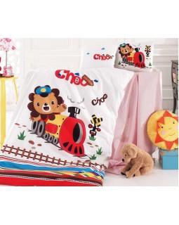 Комплект детского постельного белья Train в кроватку, хлопок