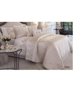 Покрывало Linzy Gold 270х260см с наволочками и декоративными подушками, сатин