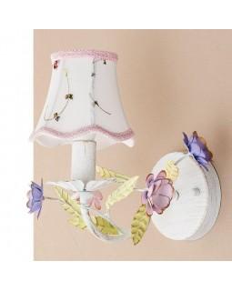 Бра белое с абажуром и цветочным декором