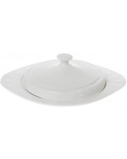 Блюдо White City Ø30см для блинов, с крышкой