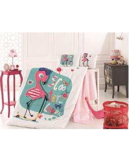 Детское постельное белье Flamingo для новорожденных, 100% хлопок