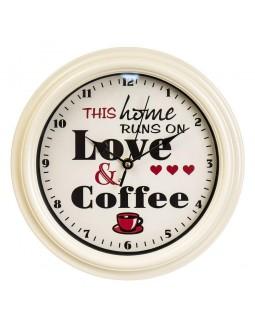 Настенный часы Love Coffee 28 см