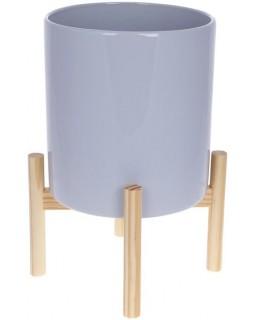 Декоративное кашпо на подставке 20х20х37 см Grigio