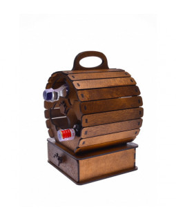 Подарочный набор с рюмками Бочонок вина 26х24х38 см