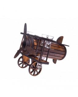 Подарочный набор с рюмками Аэроплан 30х37х33 см