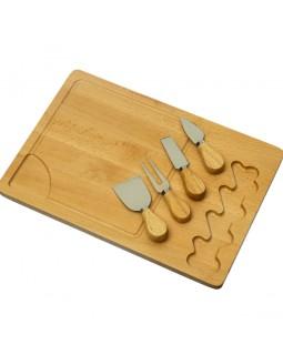 Доска для подачи сыра Rectangle 38х27 см с ножами