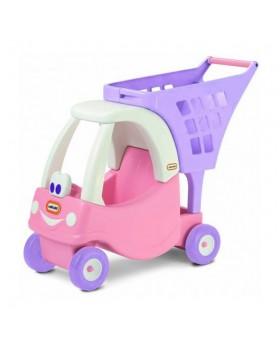 Машинка-каталка с корзиной для покупок Pink