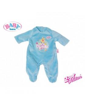 Комбинезон для куклы Baby Born «Голубой велюровый бодик»