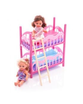 Куколки с двух-ярусной кроваткой «Еви»