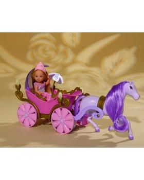 Кукла «Ева в сказочной карете с конем»