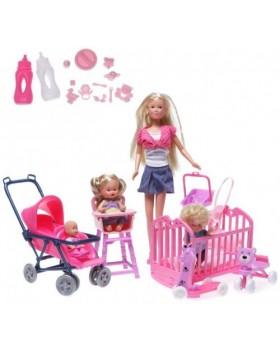 Кукла Steffi с детьми набор