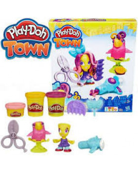 Play Doh пластилин «Парикмахер Снипс и попугай»