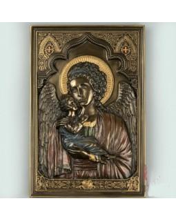 Панно на стену икона Мария с младенцем 23 см