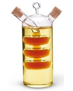 Емкость для масла 350мл и уксуса 50 мл (2 в 1), стеклянная