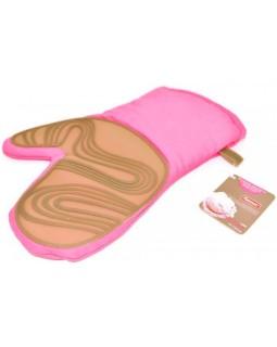 Кухонная рукавица Pink, хлопок с силиконовой вставкой