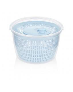 Сушка-карусель для зелени и овощей механическая центрифуга, голубая