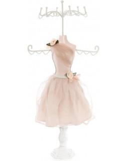 Подставка для украшений Бежевое платье 17.5х12.5х40.5 см, подвеска